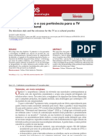 O estilo televisivo e sua pertinência para a TV como prática cultural