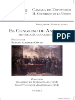 E l Congreso de Anáhuac. Antología documental.