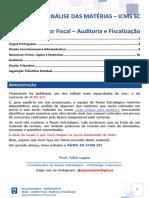 eBook ICMS SC Auditor Auditoria e Fiscalização