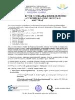 Regulament Burse Licenta Master