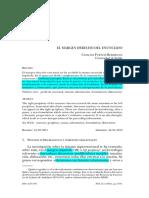 C. Fuentes - El Margen Derecho Del Enunciado