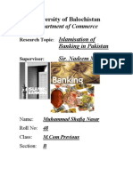 Project on Islamic Banking in Pakistan
