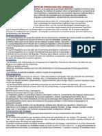 Tema 1 - Concepto de Psicología Del Lenguaje.