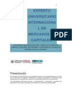 Experto Universitario Internacional en Mercados de Capitales