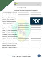 Ejercicios de Analogías - 1ero de Sec - RV