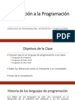 Clase # 2 Lenguajes de Programacion