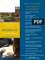 Welsh Academy open house flyer