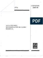 COVENIN 2685-90_Cloro residual