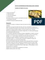 Tipos de Comida Exclusivos de La Gastronomia Del Pueblo q
