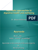Digestive health and wellbeing