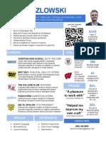 updated resume 2019 creative blue teacher kozlowski