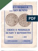 San Benito Medalla y Cruz