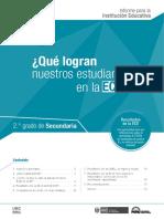 Informe Para Institución Educativa Sec ECE 2015
