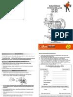 Buku Manual Sanchin Cs Power Sprayer