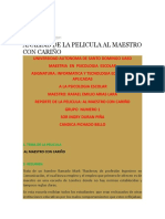 Analisis de Al Maestro Con Carino