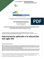 Neurociencia Aplicada a La Educacion Siglo Xxi