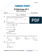 Solution Jee Main 2017