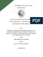 Estudio de Las Variables Socioeconomica Que Afectan La Generacion y Compision de Reisudos Oslidos