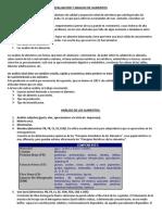 Evaluacion y Analisis de Los Alimentos
