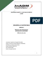relación entre dimensiones de desarrollo sustentable