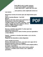 Notas - Conselhos Para o Estudo Do Latim - Rafael Falcon