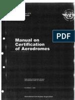 Manual on certification of aerodrome