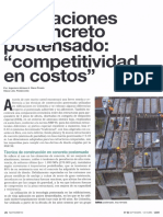 Edificaciones en Concreto Postensado_ _competitividad en Costos