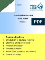 Gas Treating by Amine