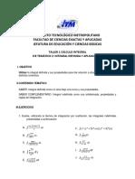 Taller 1 Integral Definida 2019-1