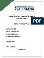 Bluethooth en Aplicaciones Automotrices
