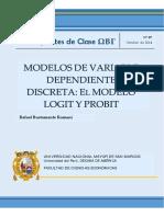APUNTES DE CLASE RAFAEL BUSTAMANTE LOGIT PROBIT