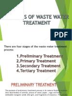 Methods of Waste Water Treatment