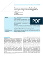 An ex vivo assessment of a bonding technique using a self-etching primer