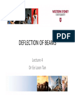 Deflection of Beams Lecture 4 Dr Ee Loon