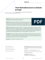 Influence of Ortho Primer Morelli Adhesion Booster on Orthodontic