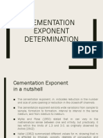 Cementation Exponent Determination-Paper Review