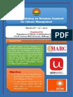 National Workshop on Metadata Standard of Library Management Software