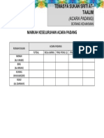 Borang Kehakiman (Acara Padang)