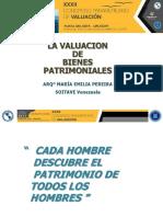 D2S1 La Valuacion de Bienes Patrimoniales. ME. Pereira