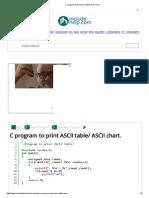 C Program to Print Ascii Table_ Ascii Chart