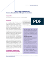 Autonomous design and the emergent transnational critical design studies field