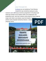 Travel Malang Sidoarjo Transuperindo