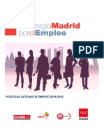 Prorroga Estrategia Madrid Por El Empleo Documento Final 10sep18