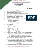 Downloadmela.com Chemical Engineering v SEM SET 1
