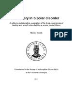 Recovery in Bipolar