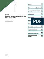 S7400 -CPU Data Es Es-ES