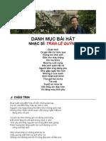 Danh sách nhạc phẩm NS Trần Lê Quỳnh