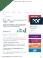Preguntas y respuestas sobre el Seguro Escolar - Gobierno de Chile