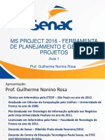 Aula 1 Microsoft Project 2016