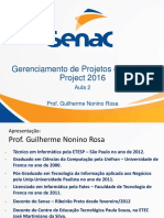 Aula 2 Microsoft Project 2016